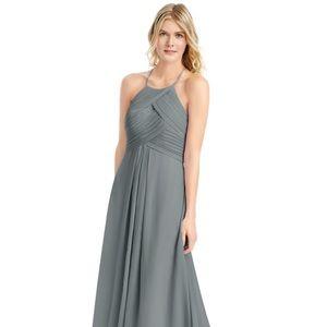 Azazie Ginger Dress - Brand New. Steel Grey. 14